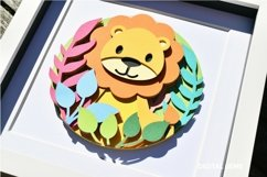 Lion. Layered paper design. SVG / PNG / DXF Product Image 2