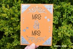 Cricut Joy Card! Mrs and Mrs wedding card design! SVG / DXF Product Image 2