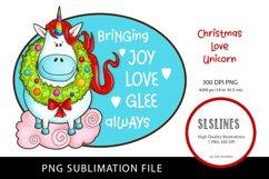 Happy Christmas Unicorn PNG sublimation Product Image 1