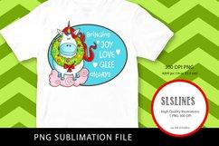Happy Christmas Unicorn PNG sublimation Product Image 2