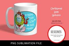 Happy Christmas Unicorn PNG sublimation Product Image 3