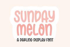 SUNDAY MELON Bold Display Font Product Image 1