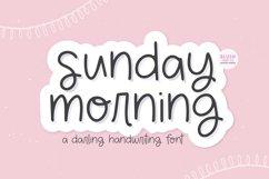 SUNDAY MORNING Cute Handwriting Font Product Image 1