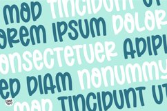 SUNDAY MELON Bold Display Font Product Image 4