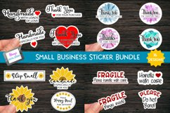 Printable Small Business Stickers Bundle - 16 Designs Product Image 1