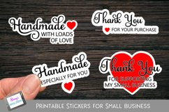 Printable Small Business Stickers Bundle - 16 Designs Product Image 2