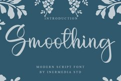 Smoothing - Modern Script Font Product Image 1
