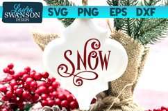 Snow SVG Cut File | Christmas SVG Cut File Product Image 1