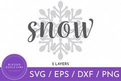 Snow Snowflake SVG