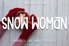 Snow Woman - Romantic And Smart Font Product Image 1