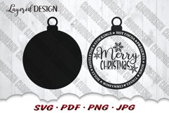 Merry Christmas Ornament SVG Files For Cricut Product Image 4