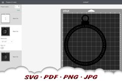 Merry Christmas Ornament SVG Files For Cricut Product Image 2