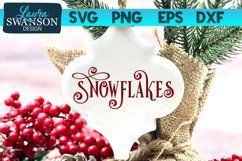 Snowflakes SVG Cut File | Christmas SVG Cut File Product Image 1