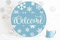 Snow Flurries Round SVG Bundle - Winter Sign Making Bundle Product Image 3
