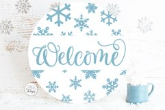 Snow Flurries Round SVG Bundle - Winter Sign Making Bundle Product Image 6