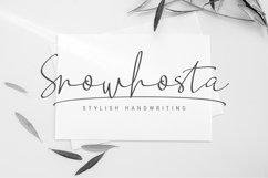 Snowhosta - handwritten script font Product Image 1