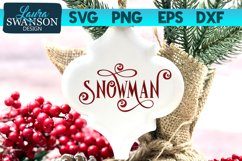 Snowman SVG Cut File   Christmas SVG Cut File Product Image 1