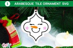 Snowman Christmas Arabesque tile SVG Bundle 2 Product Image 2