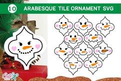 Snowman Christmas Arabesque tile SVG Bundle 2 Product Image 1