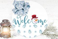 Snow Flurries Round SVG Bundle - Winter Sign Making Bundle Product Image 4