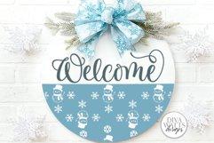 Snow Flurries Round SVG Bundle - Winter Sign Making Bundle Product Image 2
