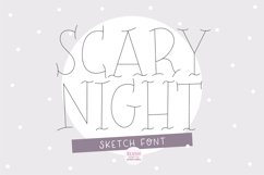 """""""SCARY NIGHT"""" Halloween Sketch Font - Single Line/Hairline Product Image 1"""