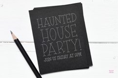 """""""SCARY NIGHT"""" Halloween Sketch Font - Single Line/Hairline Product Image 5"""