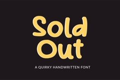 Web Font Sold out - a quirky handwritten font Product Image 1