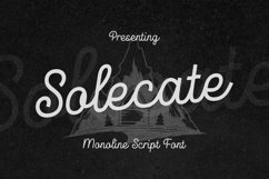 Web Font Solecate Product Image 1