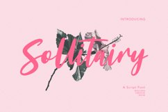 Sollitairy Script Font Product Image 1