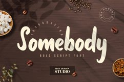 Somebody - Bold Script Font Product Image 1
