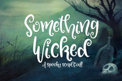Something Wicked - a spooky script font! Product Image 1