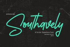 Southavely Script Signature Font Product Image 1