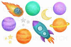 Watercolor Space Clipart Illustrations Product Image 2