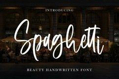Web Font Spaghetti - Beauty Handwritten Font Product Image 1
