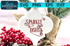 Sparkly Lights SVG Cut File   Christmas SVG Cut File Product Image 1