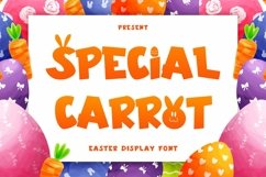 Web Font Special Carrot - Easter Display Font Product Image 1