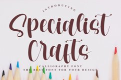Specialist Crafts - Calligraphy Font Product Image 1