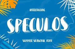 Web Font Speculos Product Image 1