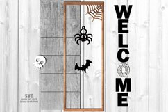 Halloween Party Welcome Vertical Sign SVG Glowforge Files Product Image 3