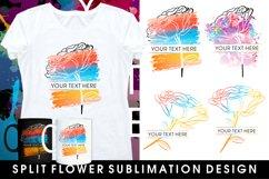 mug sublimation split monogram flowers bundle Product Image 1