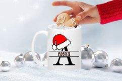 Santa Hat Split Letters A-Z - 26 Christmas Monogram Letters Product Image 6