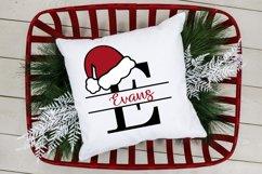 Santa Hat Split Letters A-Z - 26 Christmas Monogram Letters Product Image 4