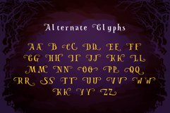 Spooky Font - Witch Alternate Glyphs Product Image 3