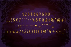 Spooky Font - Witch Alternate Glyphs Product Image 4