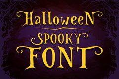 Spooky Font - Witch Alternate Glyphs Product Image 1