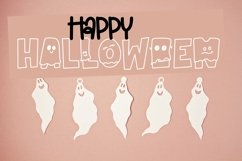 Web Font Spooky - Letters Dressed as Ghosts! A Halloween Fon Product Image 3