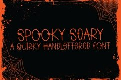 Web Font Spooky Scary - A Quirky Handlettered Font Product Image 1