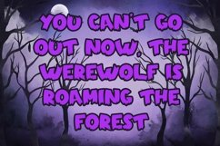 Web Font Spooky Time - Creepy Display Font Product Image 5