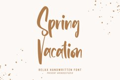 Spring Vacation - Relax Handwritten Product Image 1